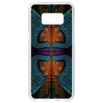 Art Abstract Fractal Pattern Samsung Galaxy S8 White Seamless Case Front