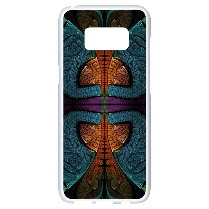 Art Abstract Fractal Pattern Samsung Galaxy S8 White Seamless Case