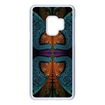 Art Abstract Fractal Pattern Samsung Galaxy S9 Seamless Case(White) Front