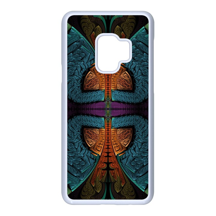 Art Abstract Fractal Pattern Samsung Galaxy S9 Seamless Case(White)