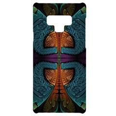 Art Abstract Fractal Pattern Samsung Note 9 Black Uv Print Case  by Wegoenart