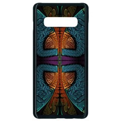 Art Abstract Fractal Pattern Samsung Galaxy S10 Plus Seamless Case (black) by Wegoenart