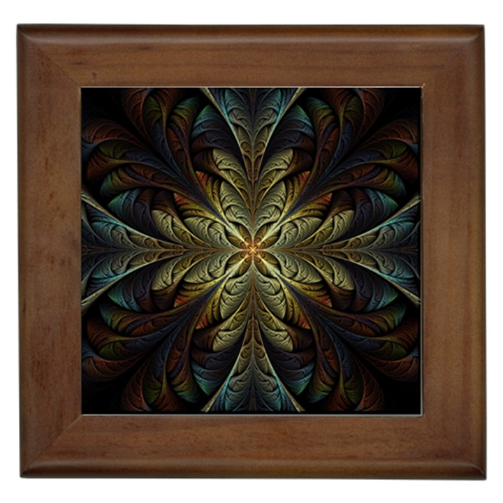 Fractal Art Abstract Pattern Framed Tile