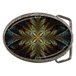 Fractal Art Abstract Pattern Belt Buckles Front