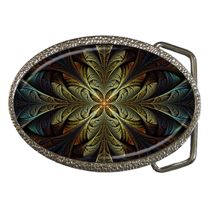 Fractal Art Abstract Pattern Belt Buckles