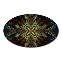 Fractal Art Abstract Pattern Oval Magnet