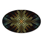 Fractal Art Abstract Pattern Oval Magnet Front