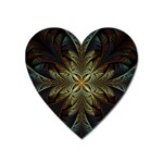Fractal Art Abstract Pattern Heart Magnet Front