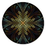 Fractal Art Abstract Pattern Magnet 5  (Round) Front