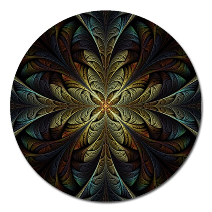 Fractal Art Abstract Pattern Magnet 5  (Round)