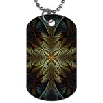 Fractal Art Abstract Pattern Dog Tag (One Side) Front