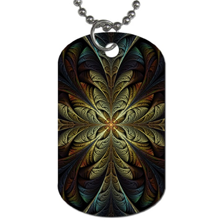 Fractal Art Abstract Pattern Dog Tag (One Side)