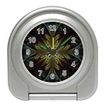 Fractal Art Abstract Pattern Travel Alarm Clock Front