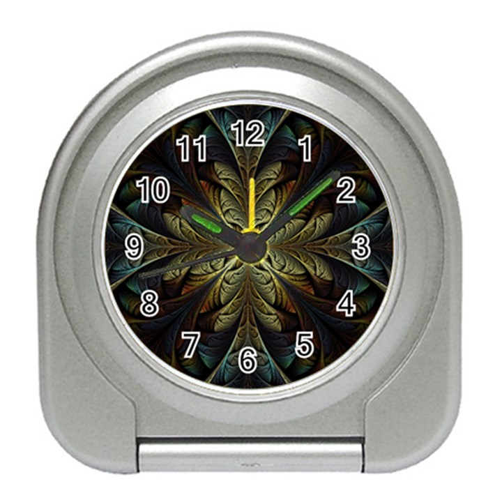 Fractal Art Abstract Pattern Travel Alarm Clock