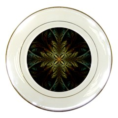 Fractal Art Abstract Pattern Porcelain Plates