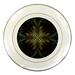 Fractal Art Abstract Pattern Porcelain Plates Front