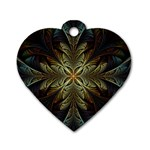 Fractal Art Abstract Pattern Dog Tag Heart (Two Sides) Front