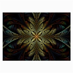 Fractal Art Abstract Pattern Large Glasses Cloth (2 Sides)