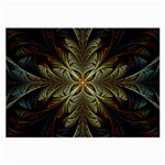 Fractal Art Abstract Pattern Large Glasses Cloth (2 Sides) Front