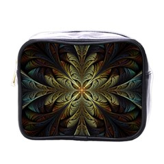 Fractal Art Abstract Pattern Mini Toiletries Bag (one Side)