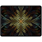 Fractal Art Abstract Pattern Fleece Blanket (Large)  80 x60  Blanket Front