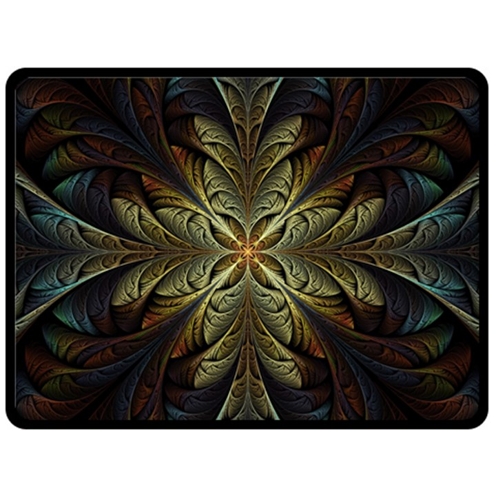 Fractal Art Abstract Pattern Fleece Blanket (Large)