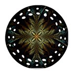Fractal Art Abstract Pattern Ornament (Round Filigree) Front
