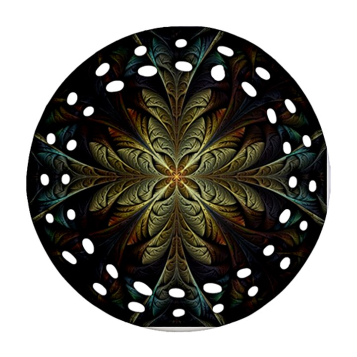 Fractal Art Abstract Pattern Ornament (Round Filigree)