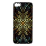 Fractal Art Abstract Pattern iPhone 5 Case (Silver) Front