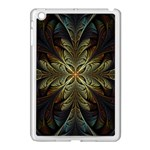 Fractal Art Abstract Pattern Apple iPad Mini Case (White) Front