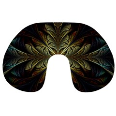 Fractal Art Abstract Pattern Travel Neck Pillow by Wegoenart