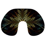 Fractal Art Abstract Pattern Travel Neck Pillow Front