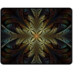 Fractal Art Abstract Pattern Double Sided Fleece Blanket (Medium)  58.8 x47.4  Blanket Front