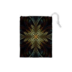 Fractal Art Abstract Pattern Drawstring Pouch (small)