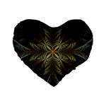 Fractal Art Abstract Pattern Standard 16  Premium Flano Heart Shape Cushions Front