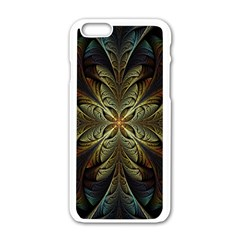 Fractal Art Abstract Pattern Iphone 6/6s White Enamel Case