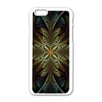 Fractal Art Abstract Pattern iPhone 6/6S White Enamel Case Front