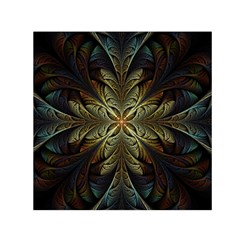 Fractal Art Abstract Pattern Small Satin Scarf (square) by Wegoenart