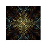 Fractal Art Abstract Pattern Small Satin Scarf (Square) Front