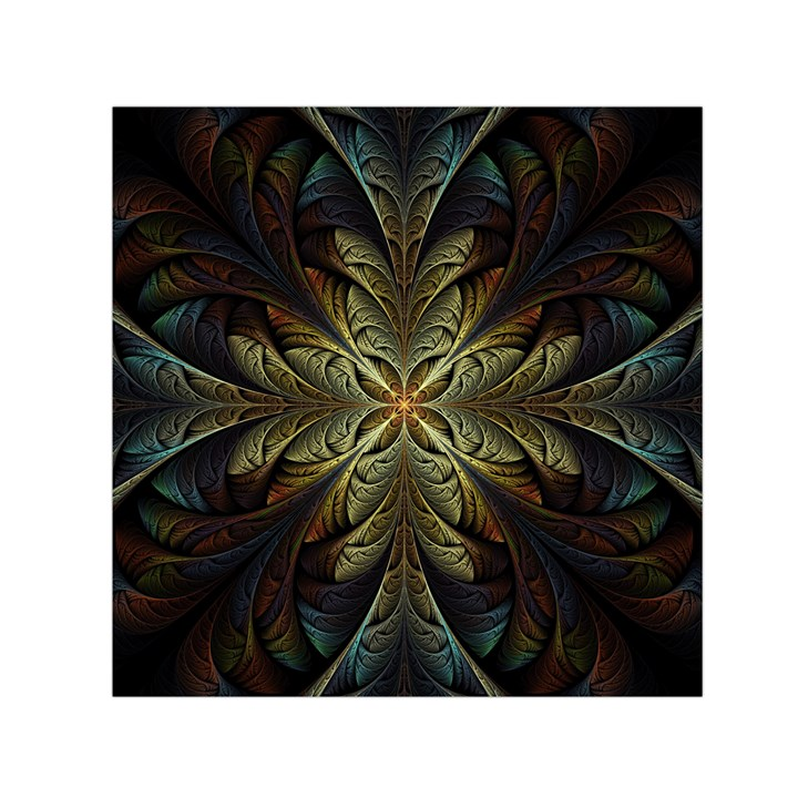 Fractal Art Abstract Pattern Small Satin Scarf (Square)