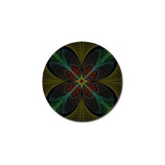 Fractal Art Abstract Pattern Golf Ball Marker by Wegoenart
