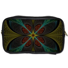 Fractal Art Abstract Pattern Toiletries Bag (one Side) by Wegoenart