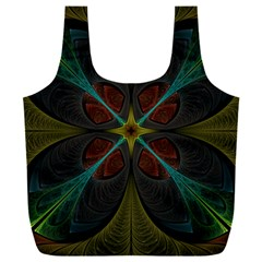 Fractal Art Abstract Pattern Full Print Recycle Bag (xxxl)