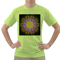 Fractal Abstract Background Pattern Green T-shirt by Wegoenart
