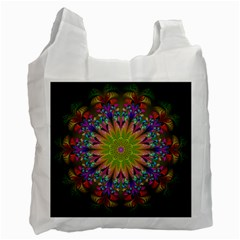 Fractal Abstract Background Pattern Recycle Bag (one Side) by Wegoenart