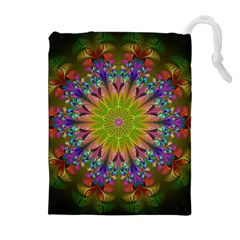 Fractal Abstract Background Pattern Drawstring Pouch (xl) by Wegoenart
