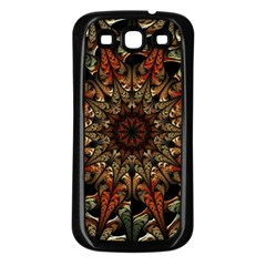Art Abstract Fractal Pattern Samsung Galaxy S3 Back Case (black) by Wegoenart