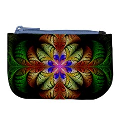 Fractal Abstract Flower Floral Large Coin Purse