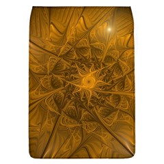 Fractal Flower Floral Gold Pattern Removable Flap Cover (l)