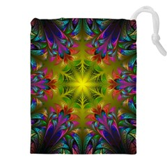 Fractal Abstract Background Pattern Drawstring Pouch (2xl) by Wegoenart